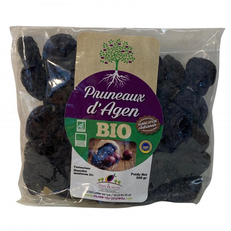 Prunes moelleux bio (500 g) de calibre petit (33/44)