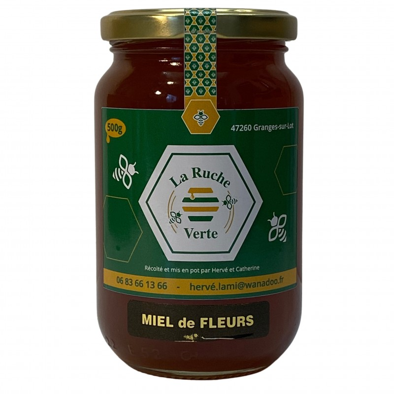 Miel de fleurs - La Ruche Verte - (500 g)