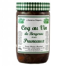 Coq au vin de Bergerac et aux pruneaux d'Agen